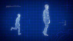 Blue medical science futuristic background, HDloop stock footage
