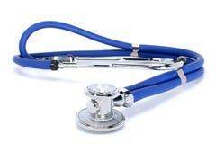 Blue medical stethoscope or phonendoscope isolated on white background royalty free stock images
