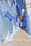 Blue medina of Chechaouen Stock Image