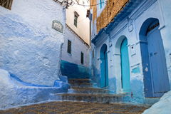 Blue medina of Chefchaouen city in Morocco, Africa Royalty Free Stock Photography