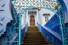 Blue medina of Chefchaouen city in Morocco Royalty Free Stock Photography