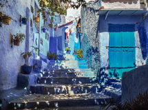 Blue Medina of Chefchaouen - Morocco. Blue Medina of Chefchaouen in Morocco Royalty Free Stock Photos