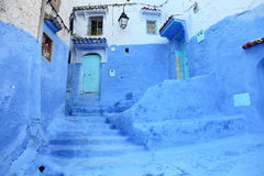Blue medina of Chefchaouen, Morocco stock images