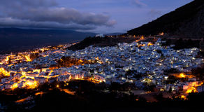 Blue medina of Chefchaouen, Morocco. Panorama of blue medina of Chefchaouen, Morocco Stock Photography