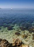 Blue Mediterranean sea. Croatia, Istria stock photos