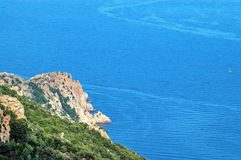 Blue Mediterranean sea Royalty Free Stock Photo