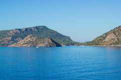 Blue Mediterranean sea Royalty Free Stock Image
