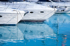 Blue mediterranean sea water in marina port Royalty Free Stock Images