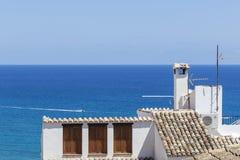 Blue Mediterranean, Spain, Alicante. View of the Mediterranean Sea in the Spanish lift Stock Photo