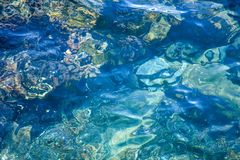 Mediterranean Water Texture. Blue Mediterranean Water Texture For Backgrounds stock images
