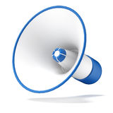 Blue megaphone Royalty Free Stock Image