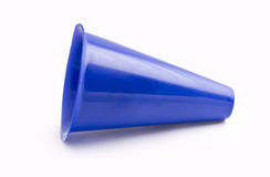 Blue Megaphone. A blue megaphone isolated on a white background Royalty Free Stock Images