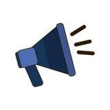 Blue megaphone icon image design. Illustration Stock Photos