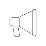 Blue megaphone icon image design. Illustration Royalty Free Stock Photos