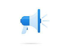Blue megaphone Royalty Free Stock Photo