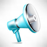 Blue megaphone illustration Royalty Free Stock Images
