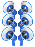 Blue megaphones Royalty Free Stock Photo
