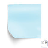Blue memo stick. Blue notepad. Blue Sticky Note isolated on whit. E background. Vector Royalty Free Stock Images