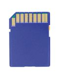 Blue Memory Card Stock Photo