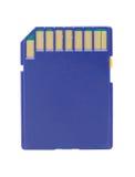 Blue Memory Card Stock Photo