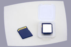 Blue memory cards Stock Photography