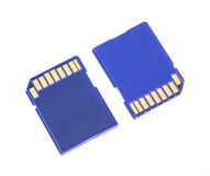 Blue memory SD card Royalty Free Stock Image