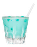 Blue Memphis Drink. Alcoholic drink isolated on white background Royalty Free Stock Photography