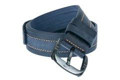 Blue men belt. Isolated on white background Stock Photos