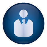 Blue Men Icon Royalty Free Stock Photo