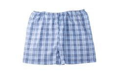Blue men`s briefs. Isolated men`s briefs on white background Stock Image