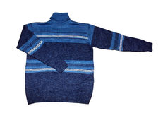 Blue men's sweater Stock Images