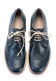 Blue men shoes Royalty Free Stock Photo