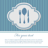 Blue menu Stock Photos