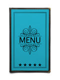Blue Menu Stock Photography