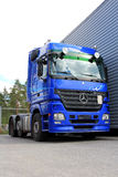 Blue Mercedes-Benz Actros 2546 Truck Stock Photos