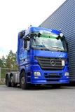 Blue Mercedes-Benz Actros 2546 Truck Stock Photos