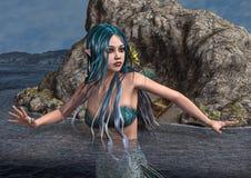 Blue Mermaid Royalty Free Stock Photos