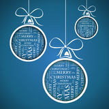 Blue_merry_christmas_text Royaltyfri Fotografi