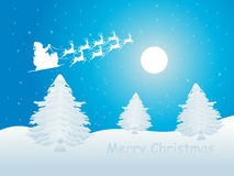 Blue merry christmas wallpaper Royalty Free Stock Image