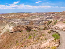 Blue Mesa Painted Desert Trail Stock Image