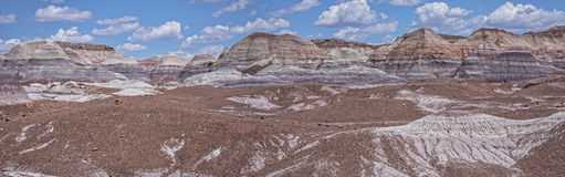 Blue Mesa At The Petrified Forest National Park. Panoramic View Of Blue Mesa At The Petrified Forest National Park Royalty Free Stock Photo