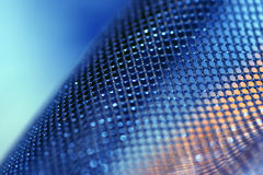 Blue mesh. Blue net perfect for background use or as a wallpaper Stock Photos