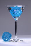 Blue Mesh Cocktail Royalty Free Stock Photo