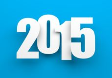 2014 on blue. Royalty Free Stock Photo