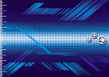 Blue metal. Mesh background with bolts in corners Royalty Free Stock Photography