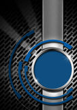 Blue and Metal Abstract Background Royalty Free Stock Photos