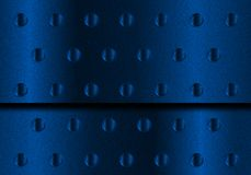 Blue Metal Background. Blue Perforated Aluminum Metal Plate Sheet vector illustration