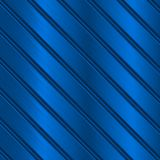 Blue metal background with diagonal stripes. Vector 3d illustration royalty free illustration