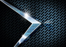 Blue and Metal Background with Grid Royalty Free Stock Image