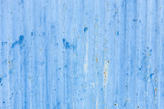 Blue metal background in a rusty condition Stock Image